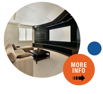 Click to see more information about our home theater solutions